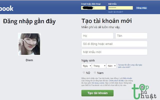 Xem mật khẩu đã lưu trên Facebook