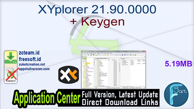 XYplorer 21.90.0000 + Keygen_ ZcTeam.id