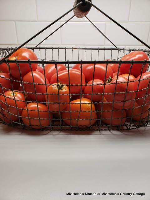 Italian Stuffed Tomato With Basil Pesto Spaghetti at Miz Helen's Country Cottage