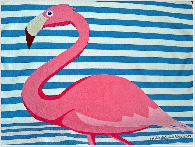 Ręcznik z flamingiem
