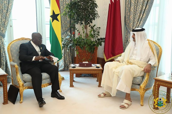 President Akufo-Addo Discusses Energy, Trade, Infrastructural Dev't With Emir Of Qatar