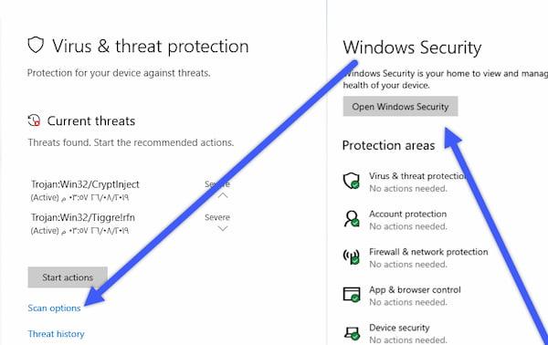 ازالة الفيروسات بدون برامج وفحص الكمبيوتر بالكامل من الفيروسات