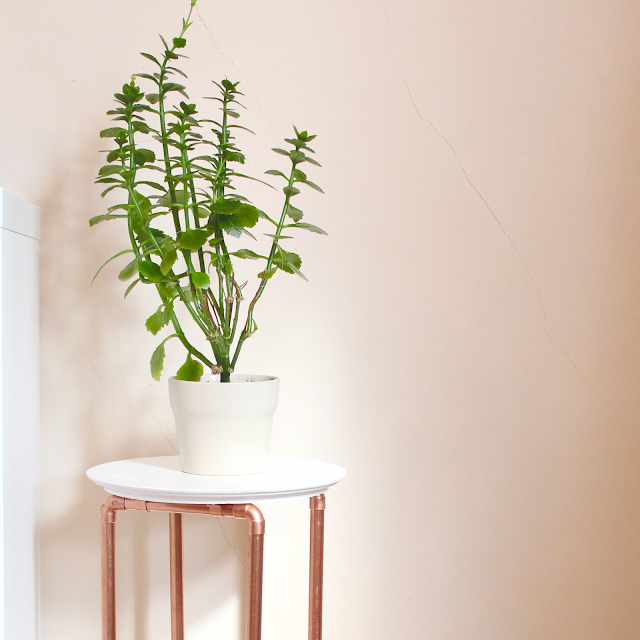 DIY Copper Leg Plant Stand