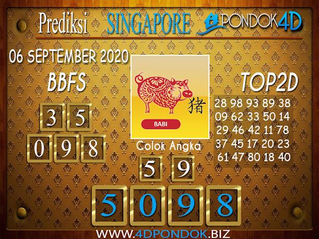 Prediksi Togel SINGAPORE PONDOK4D 06 SEPTEMBER 2020