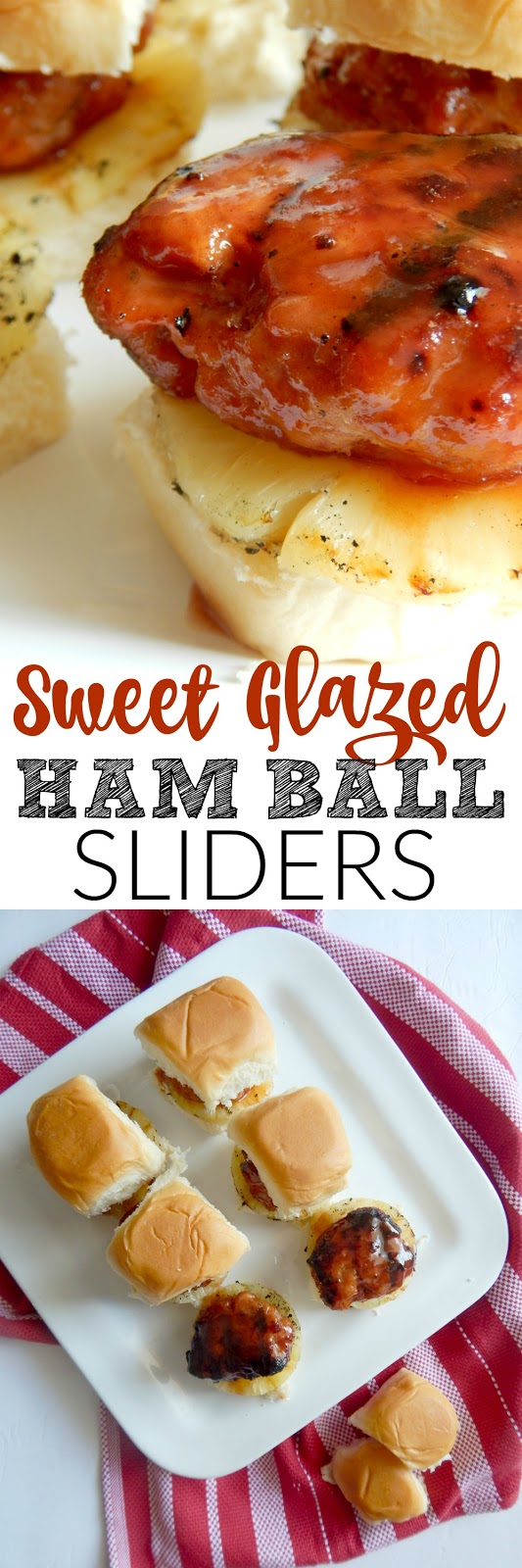 sweet glazed ham ball sliders