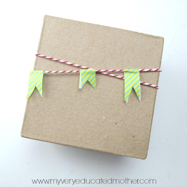 Washi Tape Gift Wrap Ideas