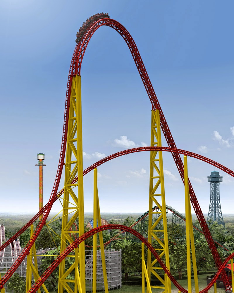 10 Amazing & Scariest Rollercoasters in the World | Intimidator 305, King's Dominion, Doswell, Virginia, USA