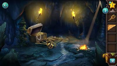 в пещере внутри сундука находится фрагмент недостающей для карты