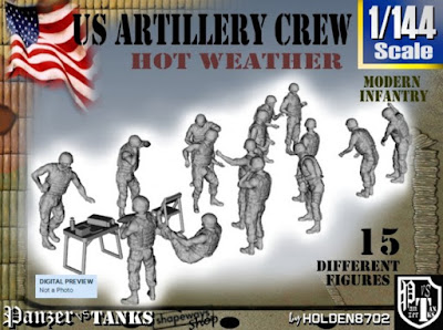 1-144 US Artillery Crew Hot Weather picture 1