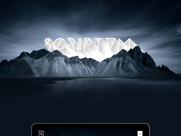 Download Scriptum Photoshop PSD Template Free