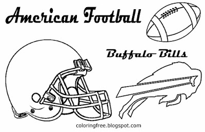 Buffalo Bills printable American football big game drawing pictures for young mans East US sport art