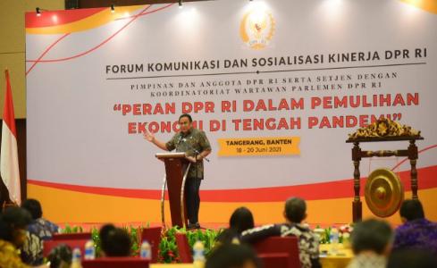 Wakil Ketua DPR RI : Pers dan Parlemen Harus Berkolaborasi Di Tengah Pandemi Covid-19