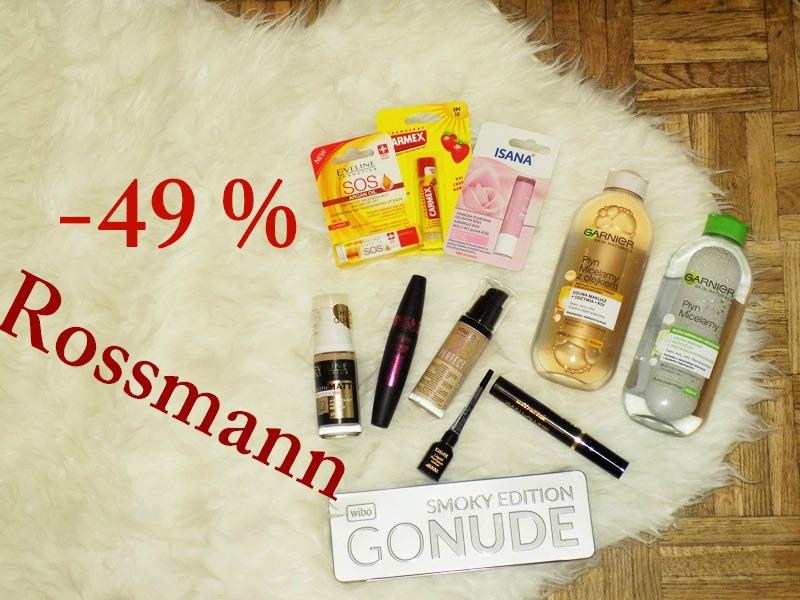 Moje łupy z promocji -49% w Rossamnnie oraz co myślę o tej całej wyprzedaży ;)
