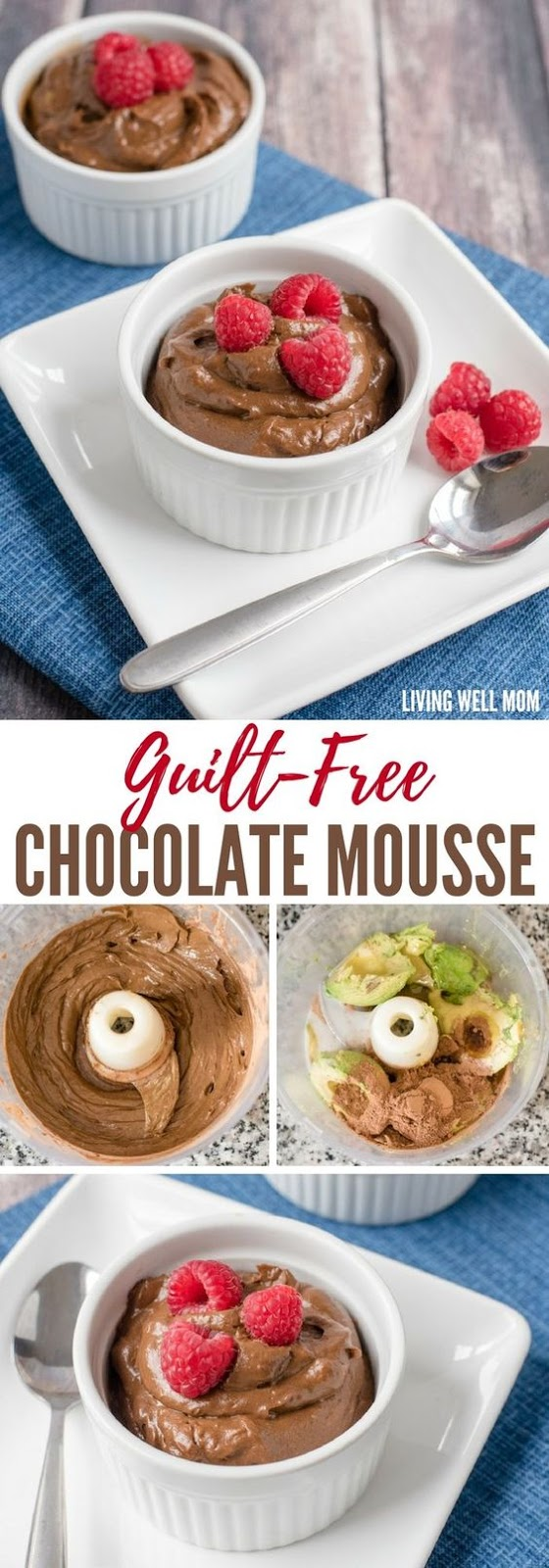 Guilt-Free Healthy Chocolate Mousse #guiltfree #healthy #chocolate #mousse #cake #cakerecipes #dessert #dessertrecipes