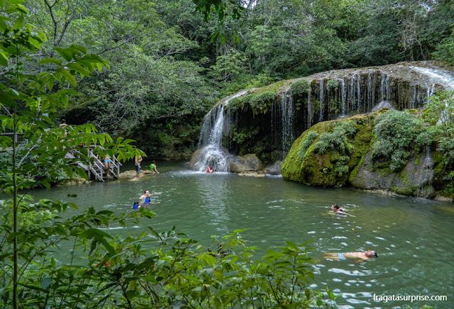 Férias de julho Brasil - cachoeira em Bonito, Mato Grosso do Sul