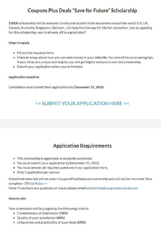 Undergraduate, Graduate and Doctoral Scholarship in US 2018, Description of Scholarship, Eligibility Criteria, Method of Applying, Application Deadline, Introduction,