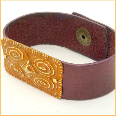 Leather Bracelet for sale at BayMoonDesign