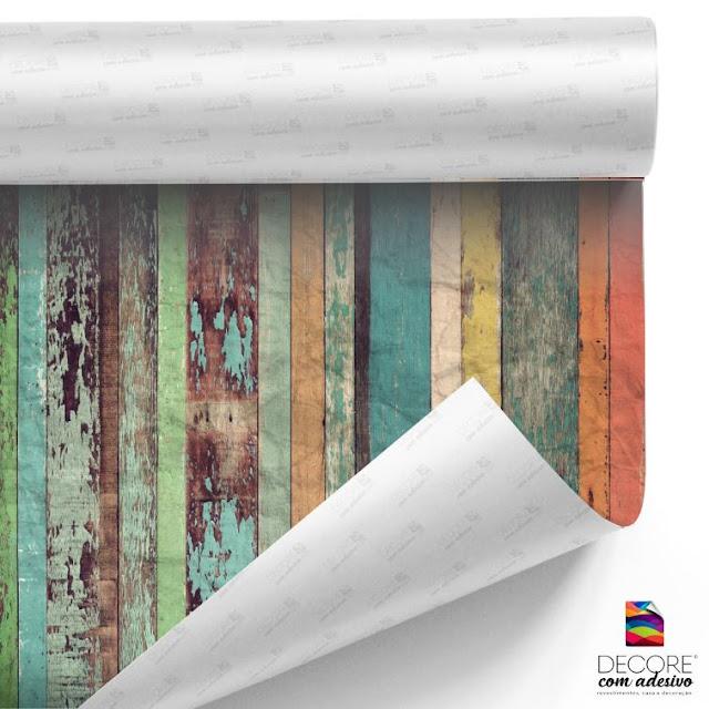 Papel de Parede Adesivo Rolo C/ 3metros Madeira Envelhecida - PP005