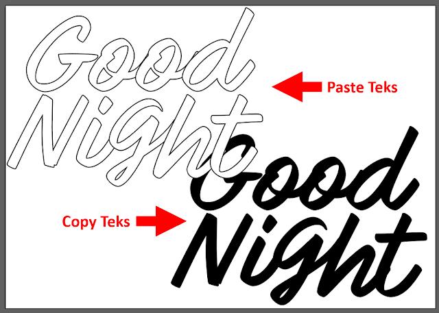 Copy Teks di Adobe Illustrator