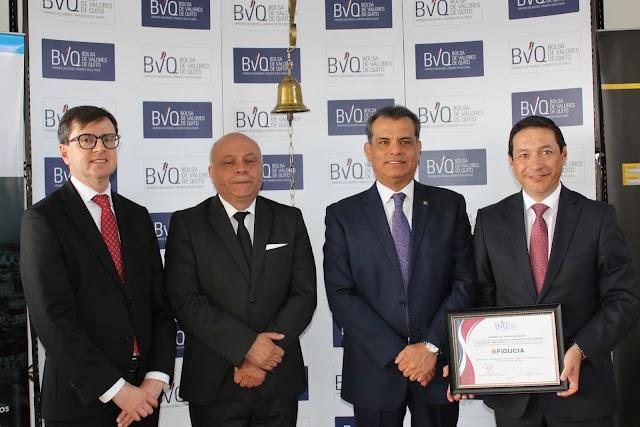 En Quito se realizó el Campanazo Bursátil del Fondo Fibra Ecu 01
