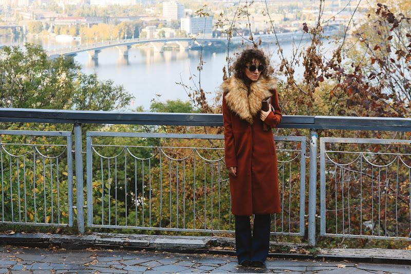 пальто в стиле 70-х