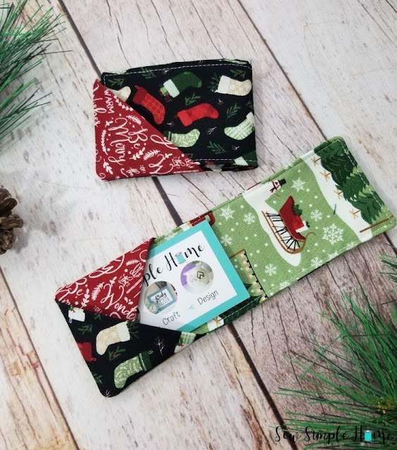 easy sewing gift card holder