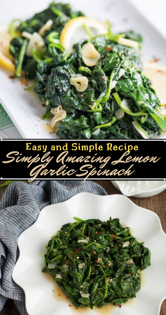 Simply Amazing Lemon Garlic Spinach #vegan #vegetarian #soup #breakfast #lunch