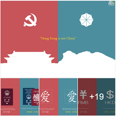 Artist created an illustration about the difference of the mainland china and hong kong