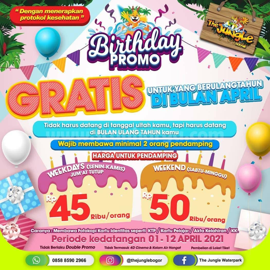 THE JUNGLE WATERPARK PROMO BIRTHDAY – GRATIS Masuk Untuk Yang Berulang Tahun