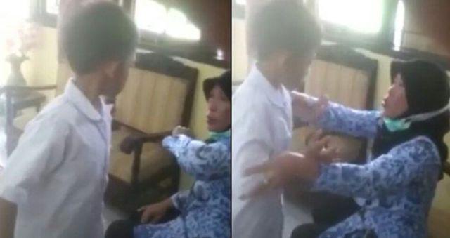 Miris... Beredar Video Anak SD Membentak Dan Menantang Gurunya!