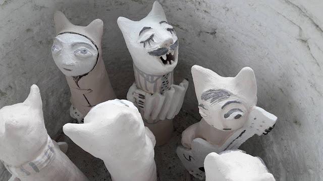 #cats #ceramic #raku #musicians #AideLL #aideleit