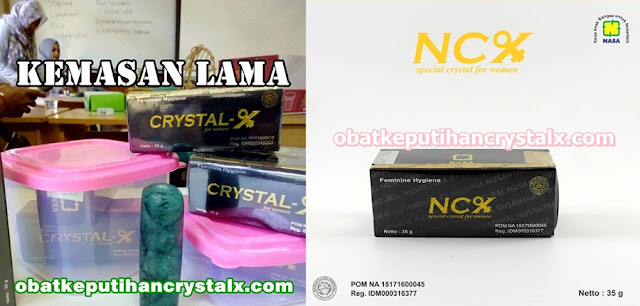 obat keputihan NCX NASA Perubahan Merek Crystal X
