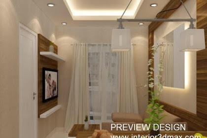 Jasa desain 3ds ruang tamu interior rumah