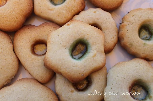 Galletas con caramelos. Julia y sus recetas