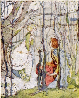 """Under the Eildon tree Thomas met the lady."""
