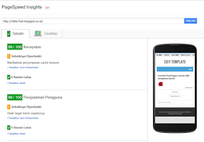 Lolos PageSpeed Insights, template lolos pagespeed