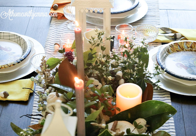 tobacco, basket, magnolia, leaves, centerpiece, athomewithjemma