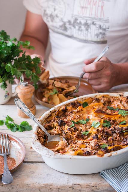 One pan lasagnes à la bolognaise et harissa d'Ottolenghi