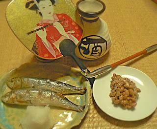 江戸時代 肴はメザシ 粒納豆