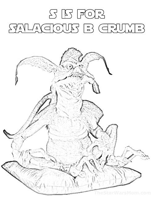 Salacious B Crumb - Star Wars Alphabet Coloring Page