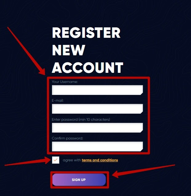 Регистрация в Wego Trade 2