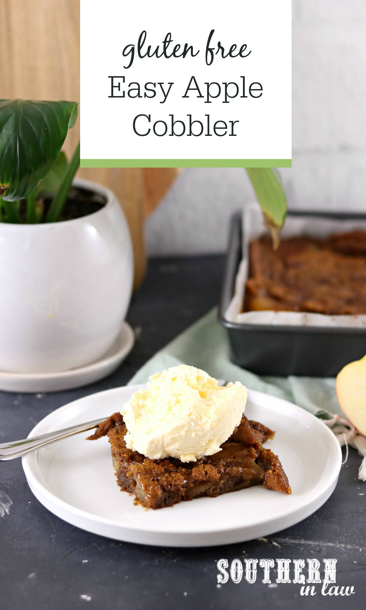 Easy Cinnamon Apple Cobbler Recipe (Gluten Free)