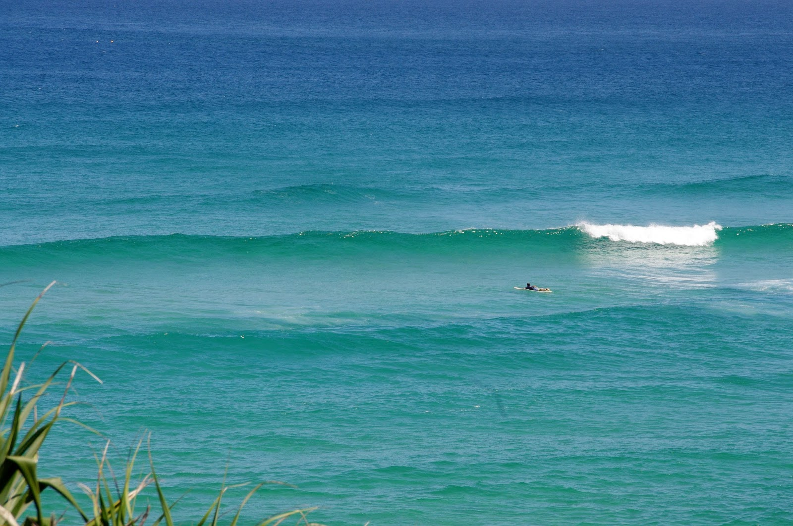 Surfer and Waves at Main Beach Stradbroke Island