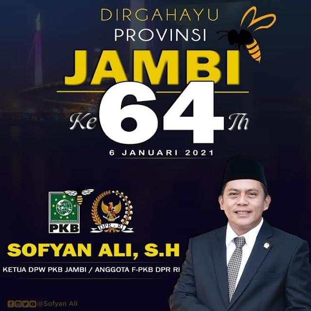 HUT Provinsi Jambi ke-64, ini Harapan Anggota DPR-RI Sofyan Ali
