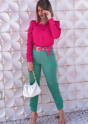 How to color block outfits