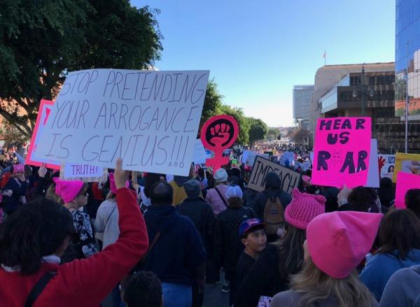 Womens March LA 2018 signs