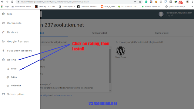 How to add star rating widget to Blogger 2019 method: widgetpack rating then install