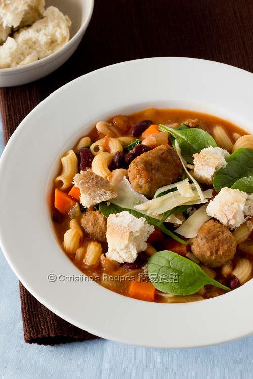 Italian Meatball Minestrone Soup01
