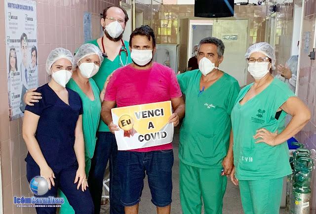 Caraubense de 49 anos vence a Covid-19 após passar 10 dias internado no Hospital de Caraúbas