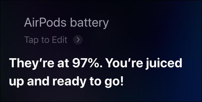 باستخدام Siri للتحقق من بطارية AirPods على iPhone